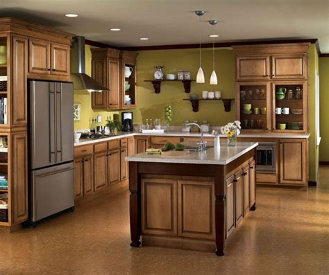 Kitchens With Maple Cabinets Aristokraft Radford Kitchen Cabinet Door Style Maple Wood With Java Glaze Finish For The Home