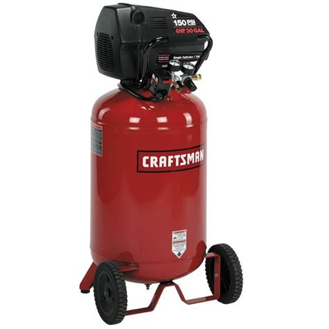 craftsman 16731 30 gal air compressor 6 hp vertical tank free sears outlet