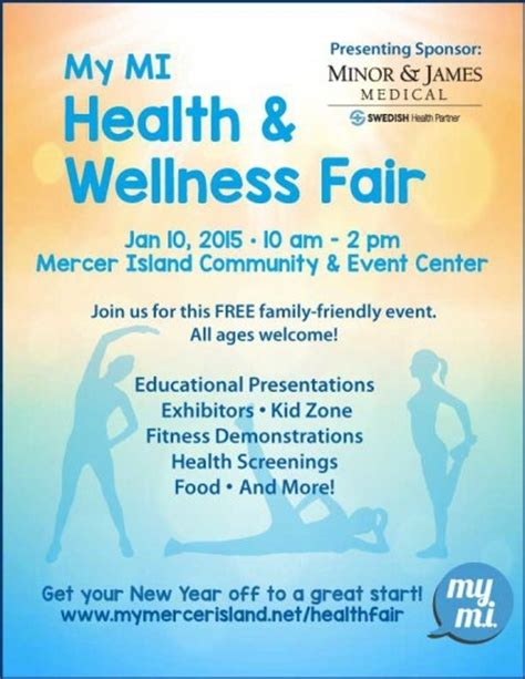 wellness template health and wellness fair flyer template clipartsgram