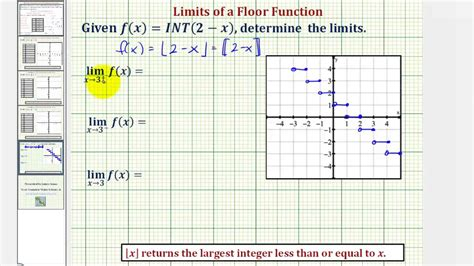 Limits   Floor Function Greatest Integer