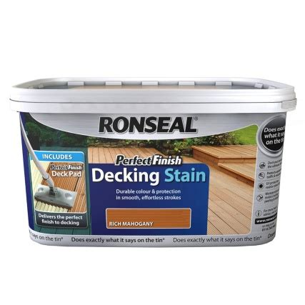 ronseal perfect finish decking stain mahogany  paint