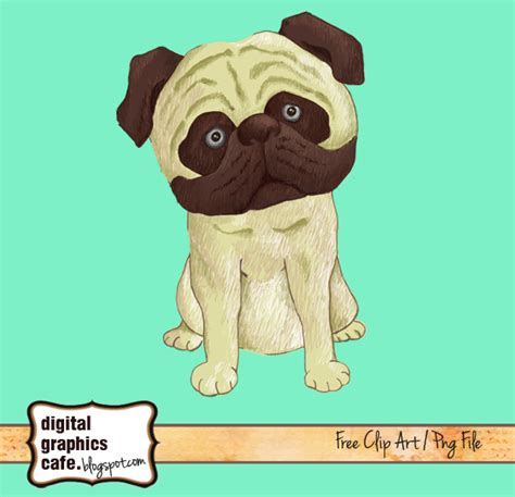 pug clipart free pug stock illustration and royalty free clipart digital graphics caf 233 free images