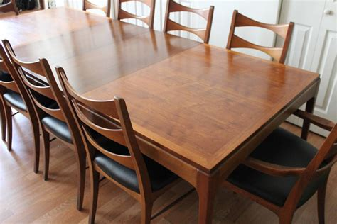Lane Dining Room Furniture | lane walnut dining room table and ten chairs at 1stdibs