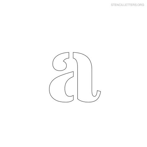 free printable lowercase letter stencils stencil letters a printable free a stencils stencil