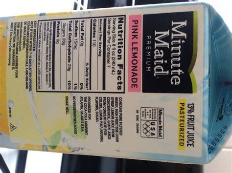 minute light fruit punch nutrition facts minute lemonade nutrition facts besto