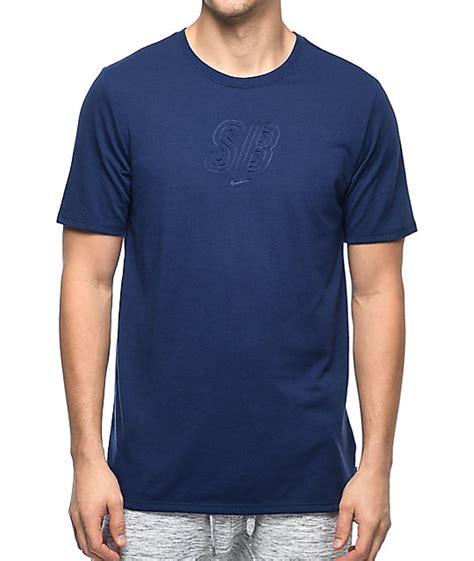 T Shirt Navy 6 0 Nike nike sb debossed logo dri fit navy t shirt zumiez