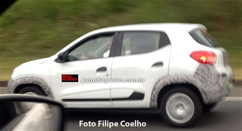 renault kwid white renault kwid fiat mobi fighter spotted again in brazil