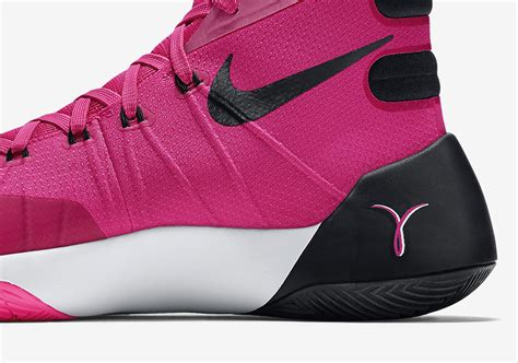 pink breast cancer basketball shoes nike hyperdunk 2015 sneakernews