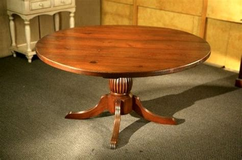 kitchen table with fluted pedestal base