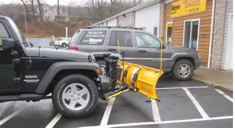 jeep wrangler snow plow smith brothers services jeep wrangler meyer drive pro