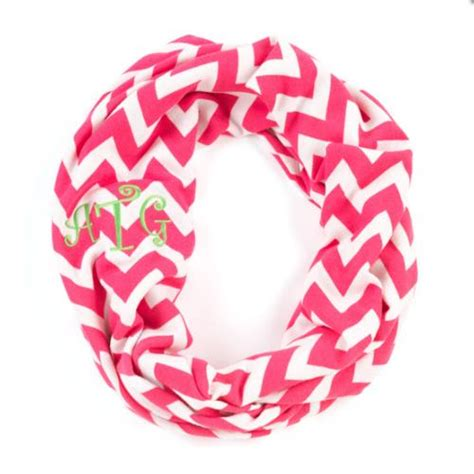 monogrammed infinity chevron scarf monogrammed gifts at the pink monogram