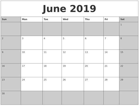 More Calendars November 2019 Free Monthly Calendar