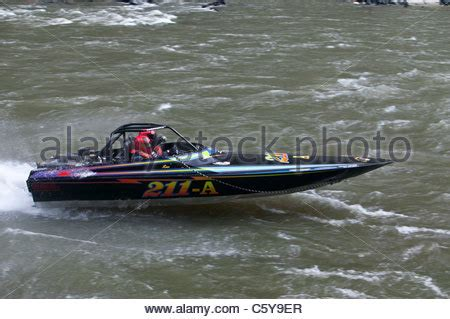 idaho boat races salmon river jet boat race riggins idaho stock photo