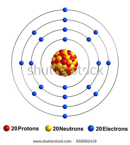 Number Of Protons In Calcium by 3d Render Atom Structure Calcium Isolated Stock