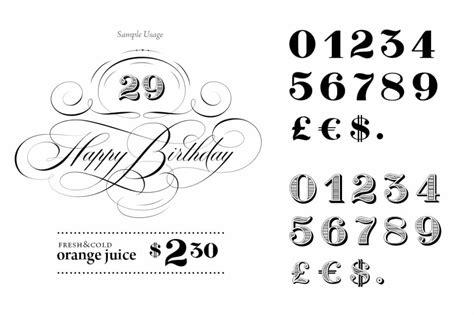 font number number fonts 10 stylish exles design shack