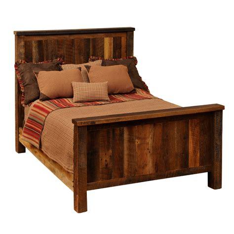 barn wood bed fireside lodge quot barn door quot reclaimed wood bed