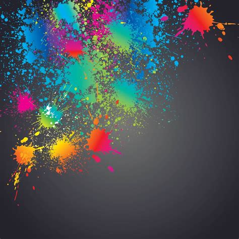 wallpaper colorful paint colorful splashed paint splatter background free vector