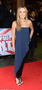 keeping it simple amanda holden donned a strapless blue