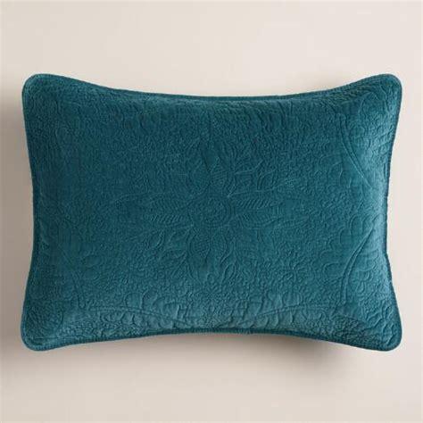 Velvet Pillow Shams by Midnight Blue Velvet Pillow Shams Set Of 2 World Market