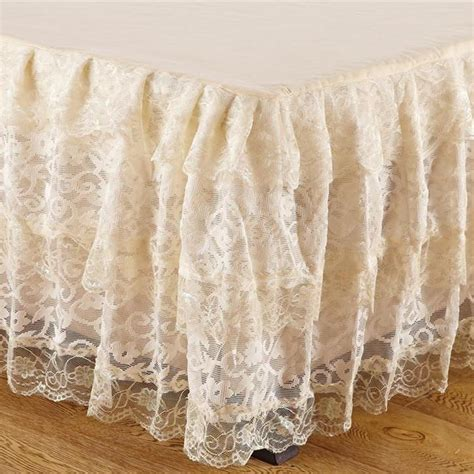 lace bed skirt lace bed skirt 14 drop linen superstore