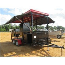 Bbq Grill Awnings by Portable Bbq Grill Smoker Mtd On T A Trailer Gas Water