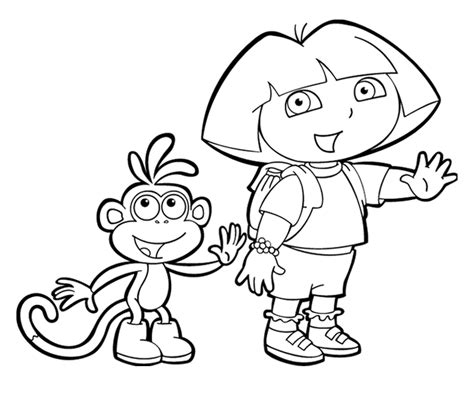 dora and buji coloring page adventure dora and boots coloring pages