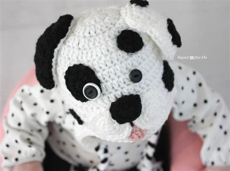 repeat crafter me puppy hat repeat crafter me crochet dalmatian pattern