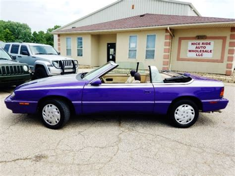 1994 chrysler lebaron 1994 chrysler lebaron convertible gtc 122k custom painted