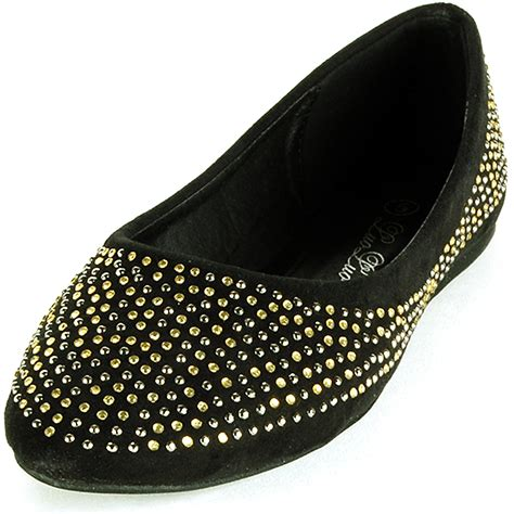 rhinestone flat shoes womens ballet flats slip on rhinestone shoe faux suede