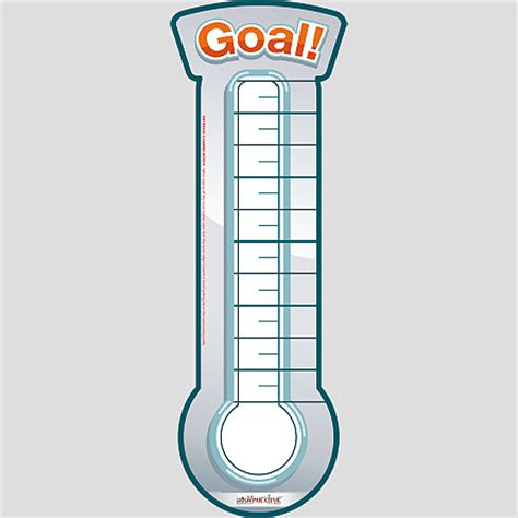 goal poster template blank thermometer template cake ideas and designs