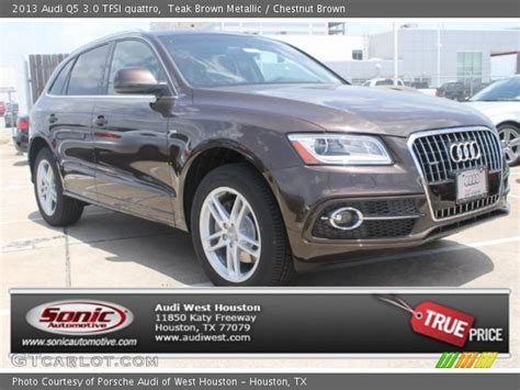Audi Q5 Chestnut Brown Interior by Teak Brown Metallic 2013 Audi Q5 3 0 Tfsi Quattro