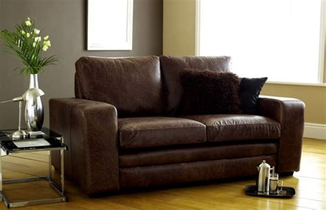 seater sofa bed modern brown leather sofa bed leather sofas