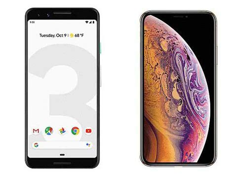 to pixel 3 vs apple iphone xs