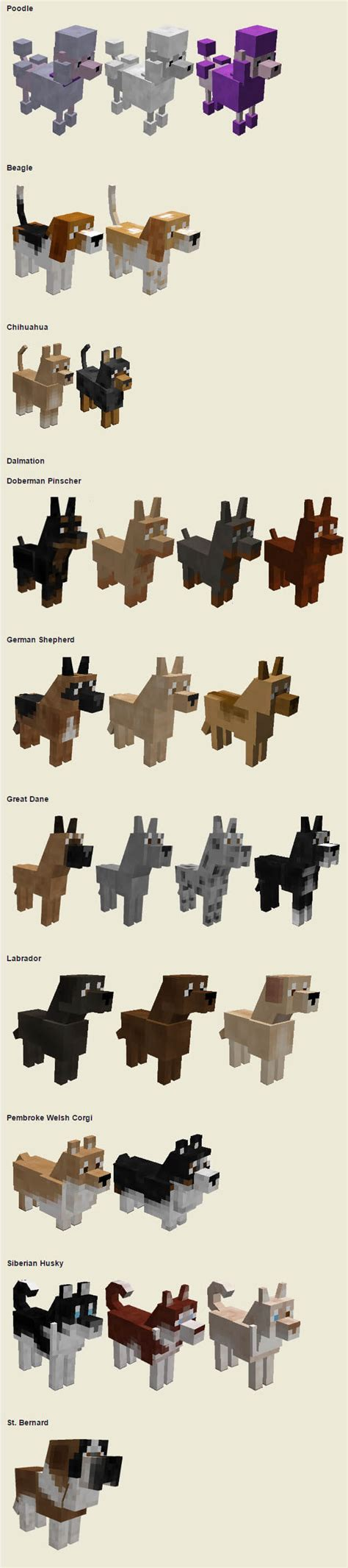 dogs mods minecraft dogs dogica 174 3d minecraft mods songs skins textures