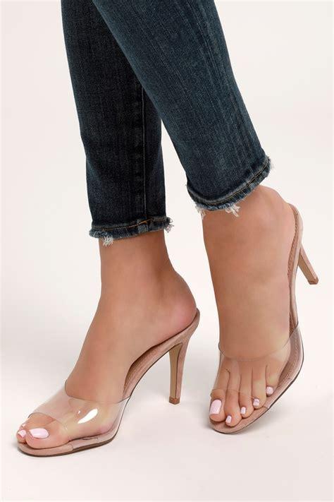 steve madden erin clear heels high heel sandals vinyl heels