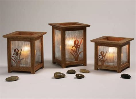 arts crafts candle lanterns woodworking plan  wood