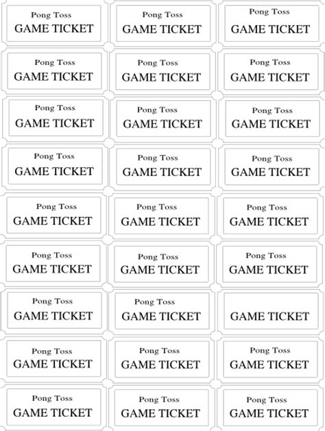 carnival tickets template free printable 8 best images of printable carnival tickets free