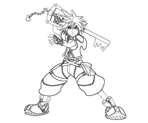 kingdom hearts coloring pages sora kingdom hearts 2 coloring pages free coloring pages