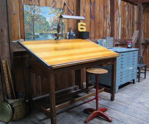 Vintage Drafting Tables For Sale Vintage Industrial Oak Hamilton Drafting Table