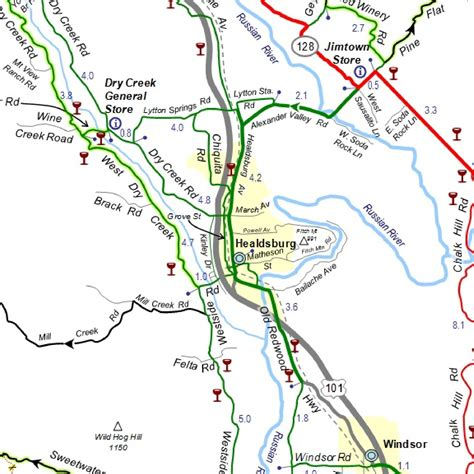 sonoma valley map sonoma cycling vacations sonoma bicycle tours