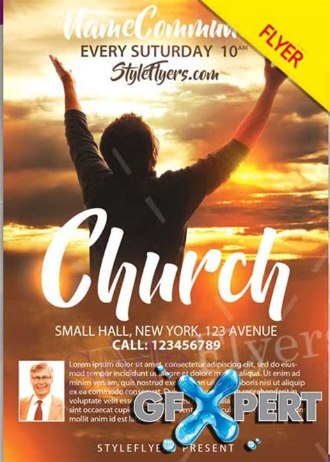 free church flyer template free church psd v12 flyer template