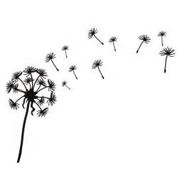 Butterflies Wall Stickers dandelion clip art black and white clipart best