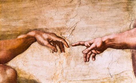 Sistine Chapel Ceiling Adam And God by Up Of God And Adam S In The Sistine Chapel