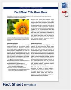 fact sheet template microsoft word sle fact sheet template 21 free documents