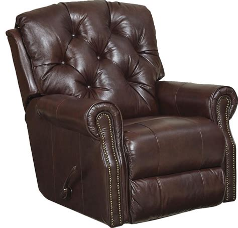 catnapper davidson top grain leather match rocker recliner