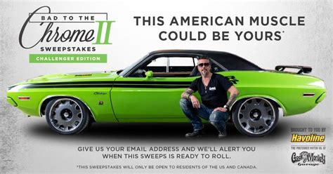Havoline Car Giveaway - gas monkey 1971 charger autos post