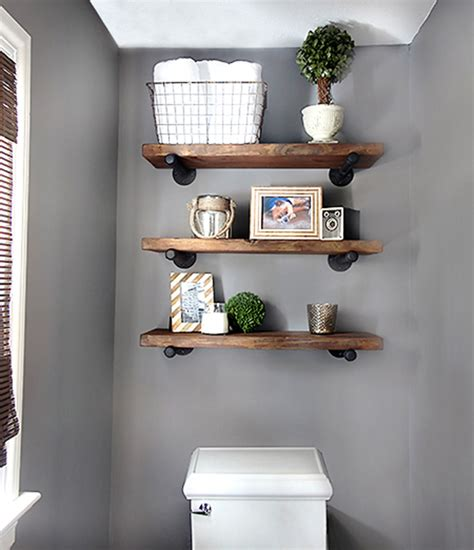 Diy Shelves For Bathroom with Diy Bathroom Shelves To Increase Your Storage Space