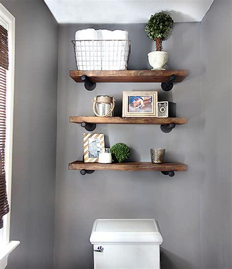 Diy bathroom shelves to increase your storage space