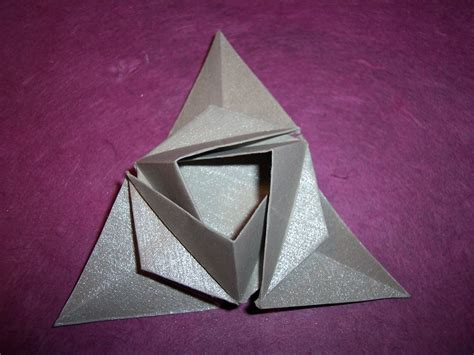 Triangular Origami - geometric container flotsam and origami jetsam