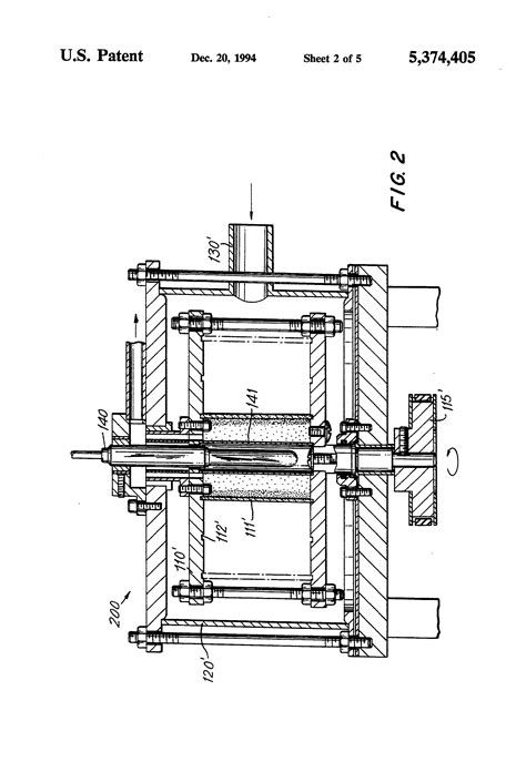 Patent US5374405 - Rotating fluidized bed reactor with
